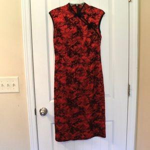 Morbid Threads Velvet & Brocade Dress